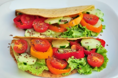 healthy flax wrap