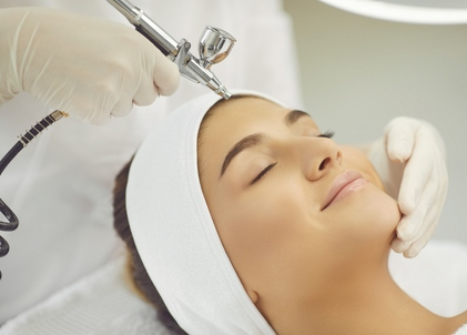 oxygen facial with gel mask
